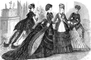 Image Gallery: The Changing Tides of Fashion Victorian corsets distributed the weight of the heavy, multi-layered gowns of the era. See more pictures of fashion history.
