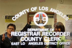 In a county as large as Los Angeles, the clerk is pretty much going to stick to filing vital records, since there are so many of them.