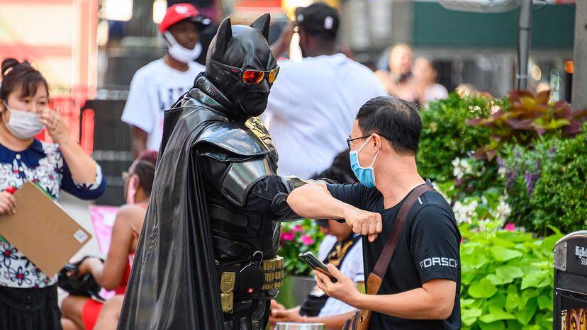 Batman elbow bump
