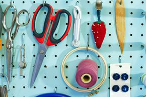 Pegboards can be a crafter's best friend!