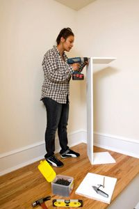 If you don't have an empty closet to convert, build your own free-standing one!