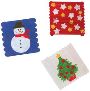 Decorating your wintertime trivets is half the fun!