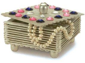 A finished gemstone jewelry box.