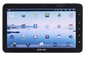 Most of the Craig tablet devices have built-in Wi-Fi, plus audio, gaming, photography, video and eReader capabilities.
