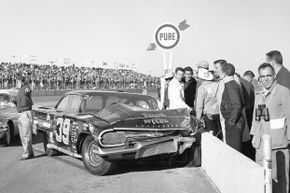 Herb Tillman crashed his Chevrolet into the pit wall at the 1960 Daytona 500, the race at which the largest crash in NASCAR history took place.