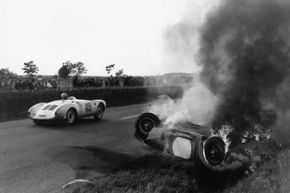 The 24-hour race at Le Mans in 1955 ended in tragedy when dozens of people died because of Pierre Levegh's wreck.