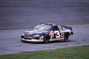 Dale Earnhardt drives during practice for the 2001 Daytona 500, a race that would prove fatal for the accomplished driver.