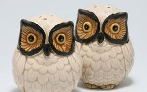 """If you have a collection, display one or two items with complimentary objects. This ensures that you don't inadvertently create an """"Owl Corner"""" in your living room."""