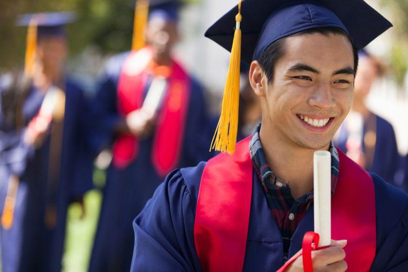 College graduate, graduation day