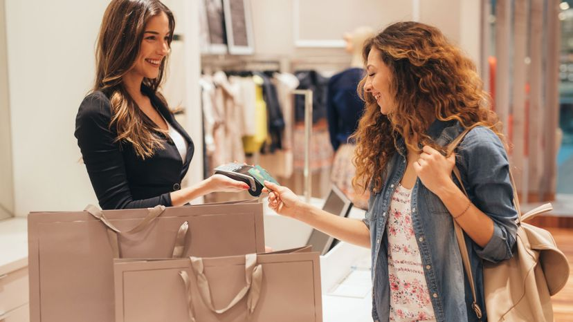 customer, clothing store