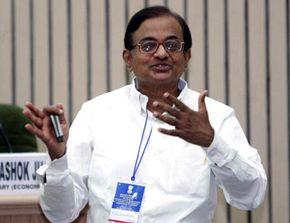 Indian Finance Minister Palaniaffen Chidambaram speaks