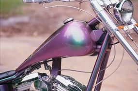 """The """"chameleon"""" paint flips from purple to green, depending on viewing angle."""
