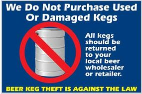 ISRI encourages scrap recyclers to post this sticker on their premises to discourage unscrupulous keg recyclers.