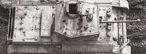 The Mark VIII Cromwell A-27M Infantry Tank was equipped with the new six-pounder gun and had a top speed of 32 mph. It went into production in 1943.