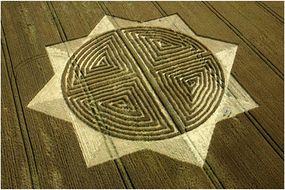 A formation at West Kennett in Wiltshire that looks like a Celtic symbol called the Triskell