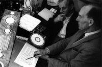 Doug and Dave, in Doug's Southampton studio in 1992