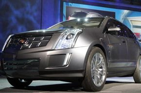 The hydrogen fuel-cell powered, five-passenger crossover concept Cadillac Provoq was unveiled during the 2008 International Consumer Electronics Show in Las Vegas, Nev.