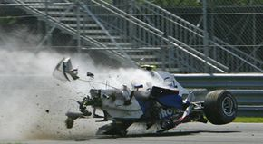 Some crashes, such as this one involving Formula One driver Robert Kubica, look spectacular and horrifying. In fact, the destruction of the car likely saved Kubica's life.