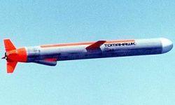 Submarine-launched Tomahawk cruise missile.