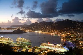 Is it easier to get away with a crime on a cruise ship? Actually, it might be. Maritime laws are murky and jurisdictions overlap. These ships are in harbor at the U.S. Virgin Islands. See more pictures of paradise.