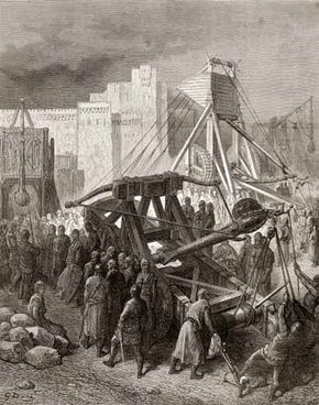 The Crusaders and their siege weapons