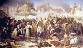 The taking of Jerusalem by the Crusaders
