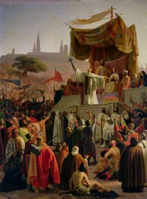 St. Bernard of Clairvaux preaching the Second Crusade