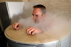French pro soccer player Franck Ribery tried out a cryotherapy chamber in 2012.