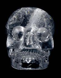 Crystal skull from