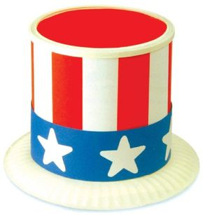You'll have a patriotic good time making Uncle Sam's hat.