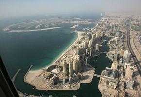 Dubai Image Gallery An aerial view of Dubai's palm island. See more Dubai pictures.