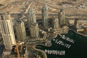 Dubai Image Gallery An aerial view of booming Dubai. See more pictures of Dubai.