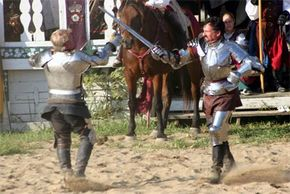 Dueling presentation at the 16th Century English village at the Ohio Renaissance Festival