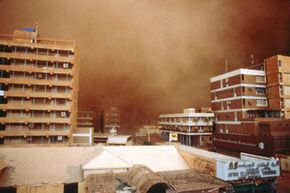 Khartoum, Sudan, weathers a haboob on May 31, 1990. See more pictures of storms.