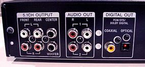 DVD player audio outputs