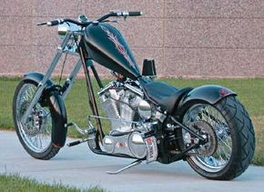 The Daddy Long Legs is a specially sized bike, custom-built to accommodate the big frame of its rider.