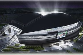 The artist's rendering of the Dallas Cowboys stadium gave a hint of what the world could expect from the $1 billion facility. See more football pictures.