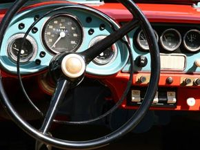 Miss the good old days? Here's the dashboard display in an antique car.