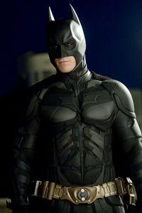 "Christian Bale stars as ""Batman."""