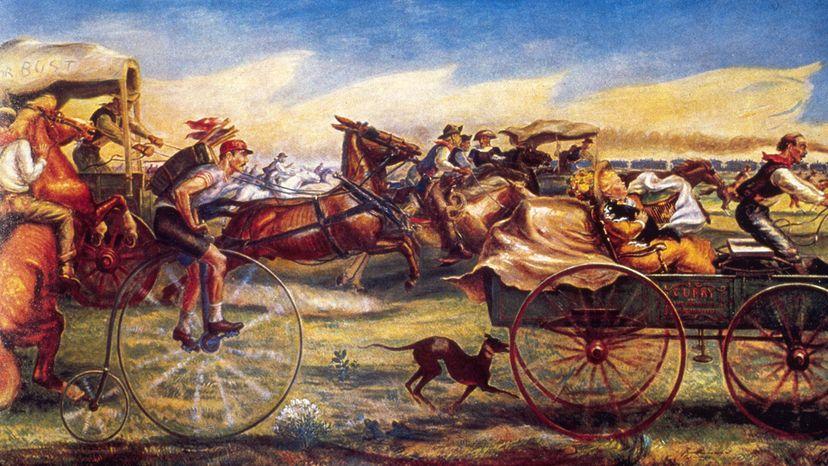 white settlers rush to claim cherokee land