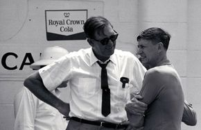 Bill France Sr. [left] spent three days trying to figure out who won the 1959 Daytona 500.