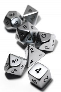 Dice of steel. DO NOT TOUCH.