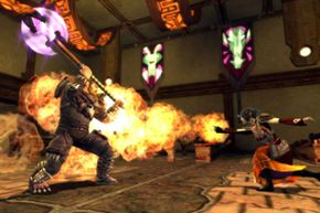 There are only a few areas in Dungeons & Dragons Online where you can combat other players.