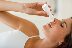 A decongestant nasal spray can provide fast allergy relief.