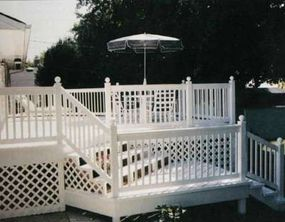 The detailing has the old-fashioned appearance of painted wood, but is actually made of PVC.