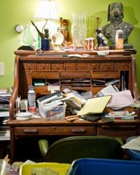 Excess clutter can drive people crazy, but it can be difficult to control.