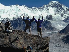 Mount Everest Image Gallery The summit of Mount Everest stands at 29,035 feet (8,850 meters). See more pictures of Mount Everest.