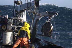 Thirty-foot (9-meter) waves are nothing new to the fishermen in the Bering Sea.