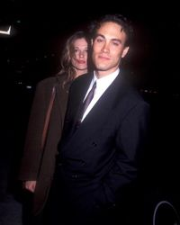 """Lee with his fiance, Eliza Hutton, in March 1992. The end credits of """"The Crow"""" declare the film to be """"For Brandon and Eliza."""""""