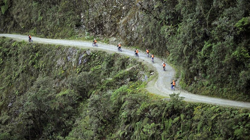 North Yungas Road Mountain Bikers